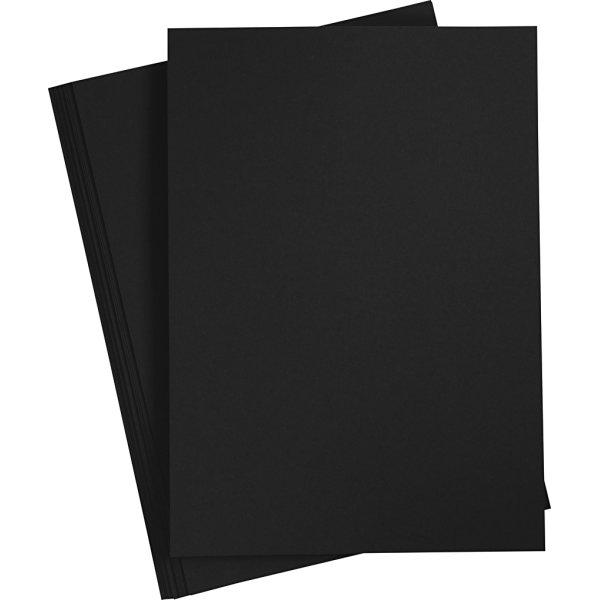 Happy Moments Papir, A4, 70g, 20 ark, sort