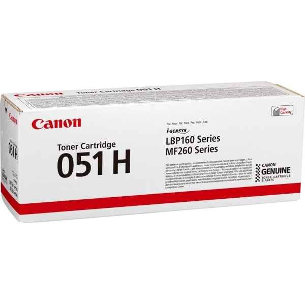 Canon CRG 051 Hi capacity lasertoner, sort, 4.100s