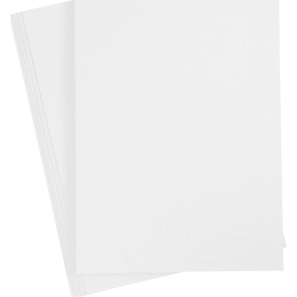 Happy Moments Karton, A4, 220g, 10 ark, hvid