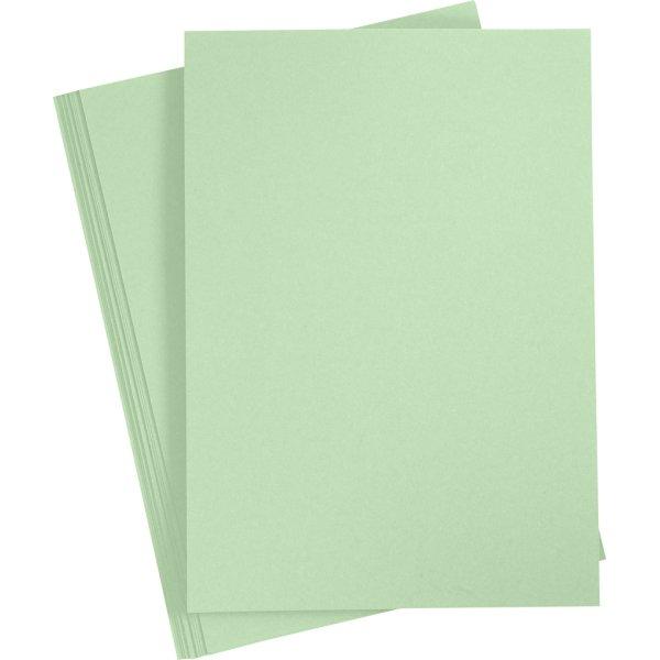 Happy Moments Karton, A4, 220g, 10 ark, lysgrøn