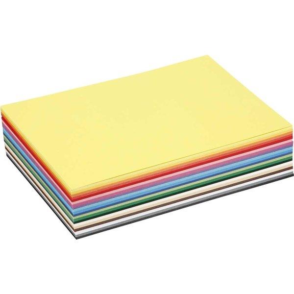 Colortime Karton, A5, 180g, 300 ark, ass. farver