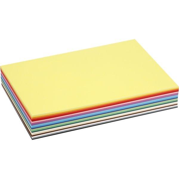 Colortime Karton, A4, 180g, 30 ark, ass. farver