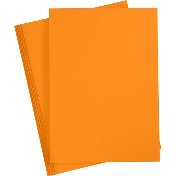 Paper Concept Karton, A4, 180g, 20 ark, mandarin