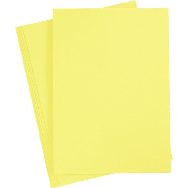 Paper Concept Karton, A4, 180g, 20 ark, kanariegul