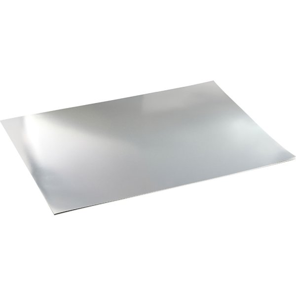 Metalkarton, A2, 280g, 10 ark, sølv