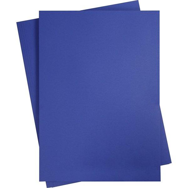 Karton, A2, 180g, 10 ark, kongeblå