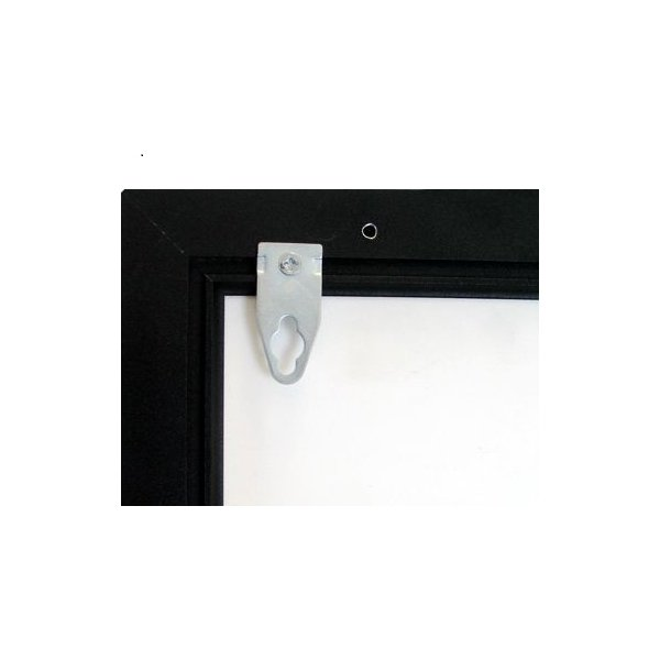 Crown enkeltside LED ramme, 70 x 100 cm, Sort