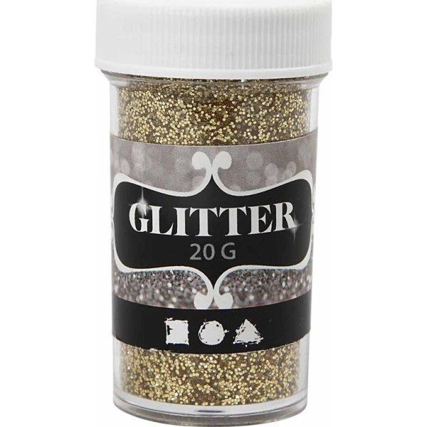 Glitterdrys, guld, 20 g