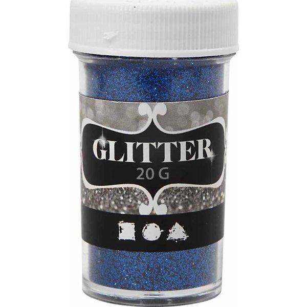 Glitterdrys, blå, 20 g