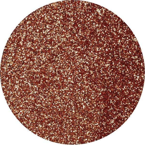 Glitterdrys, kobber, 110 g