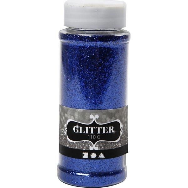 Glitterdrys, blå, 110 g