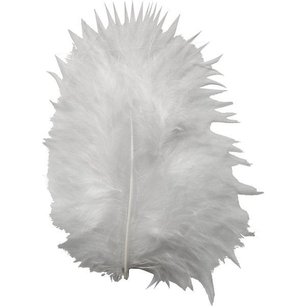 Pyntedun 5-12 cm, hvid, 15 stk