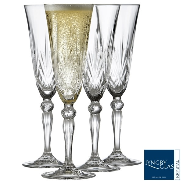 Gave: Lyngby Champagneglas Melodia, 16 cl.
