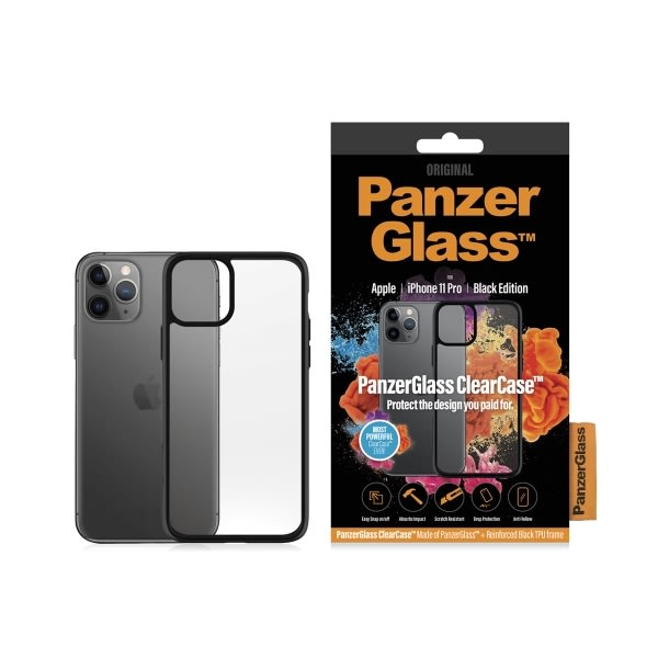 Panzerglass ClearCase sort cover til iPhone 11 Pro