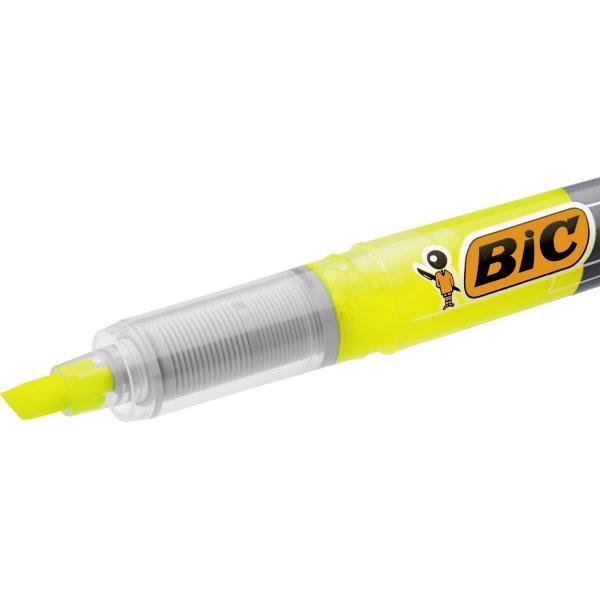 Bic Technolight highlighter, gul