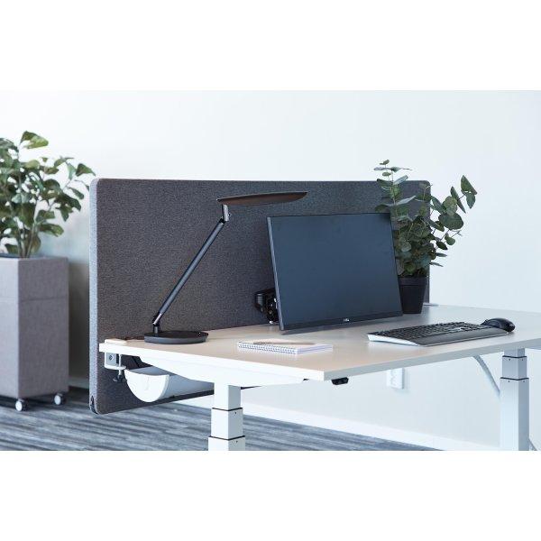 Silent Express bordskærmvæg, 160x65 cm, lysegrå