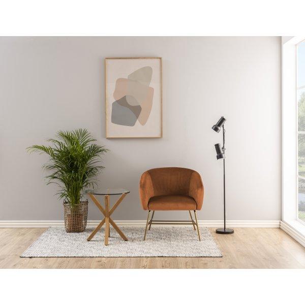 Ramsey lænestol, Krom/VIC stof, Kobber