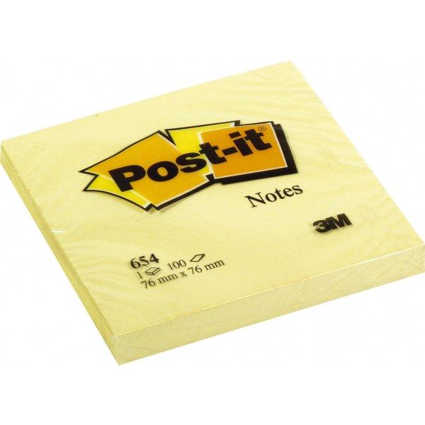 Post-it memoblokke 76 x 76 mm, gul