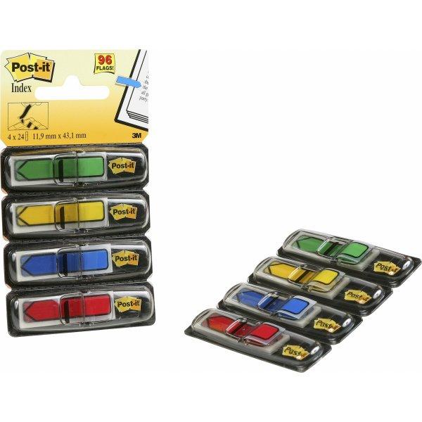 Post-it markeringspile (4 farver)12,5x43 mm