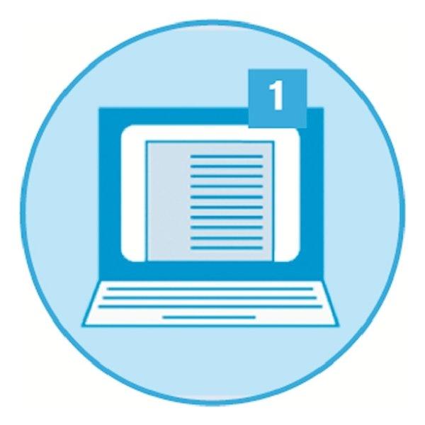 Esselte Maxi register A4, 1-12, til print