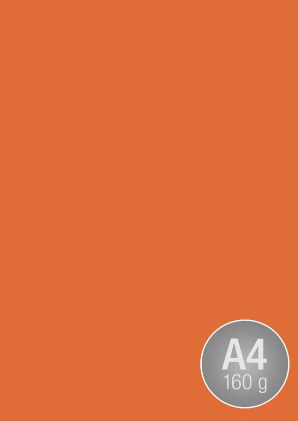 Image Coloraction A4, 160g, 250ark, mørk orange