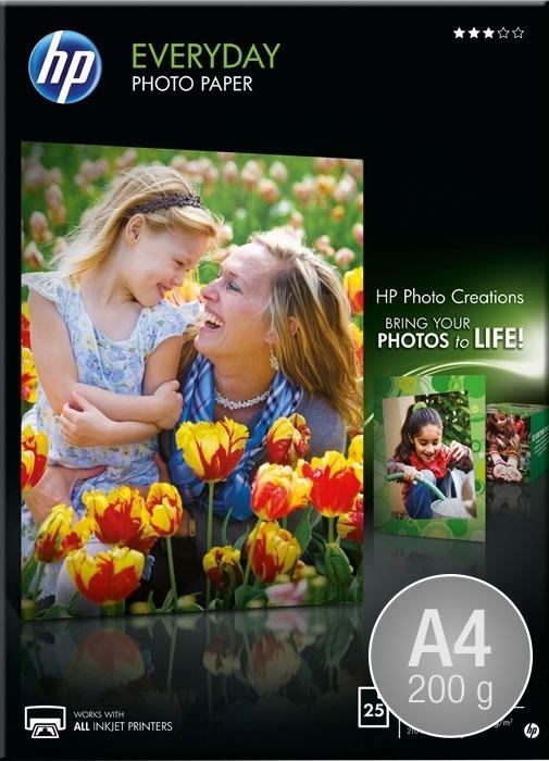 HP Q5451A blank inkjetfoto, A4/200g/25ark