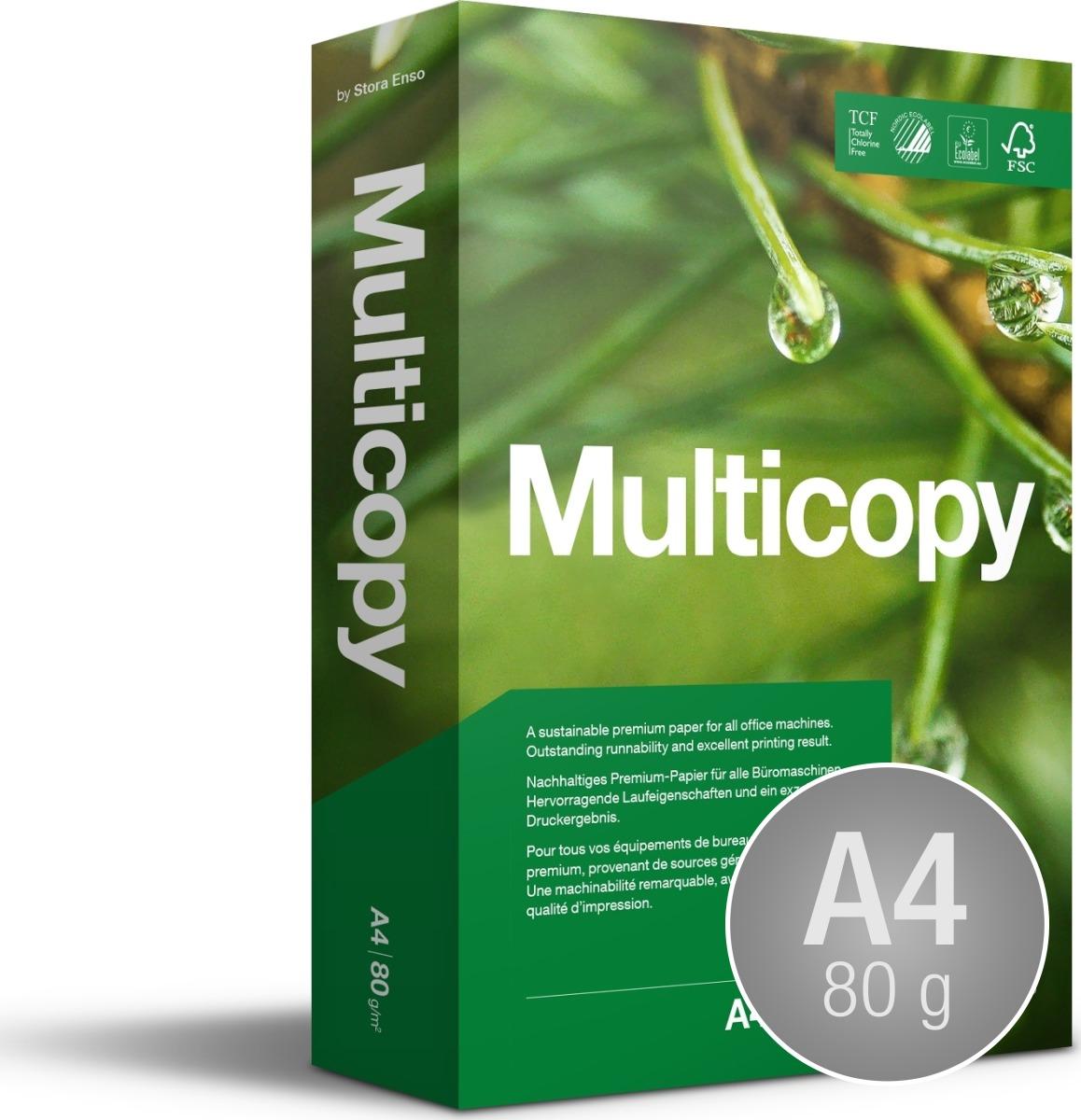 Multicopy Kopipapir A4/80g/500ark