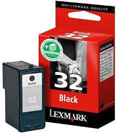 Lexmark nr.32/18CX032B blækpatron, sort