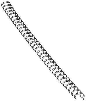 Fellowes metal spiralryg A4, 34 rings, 8mm, sort