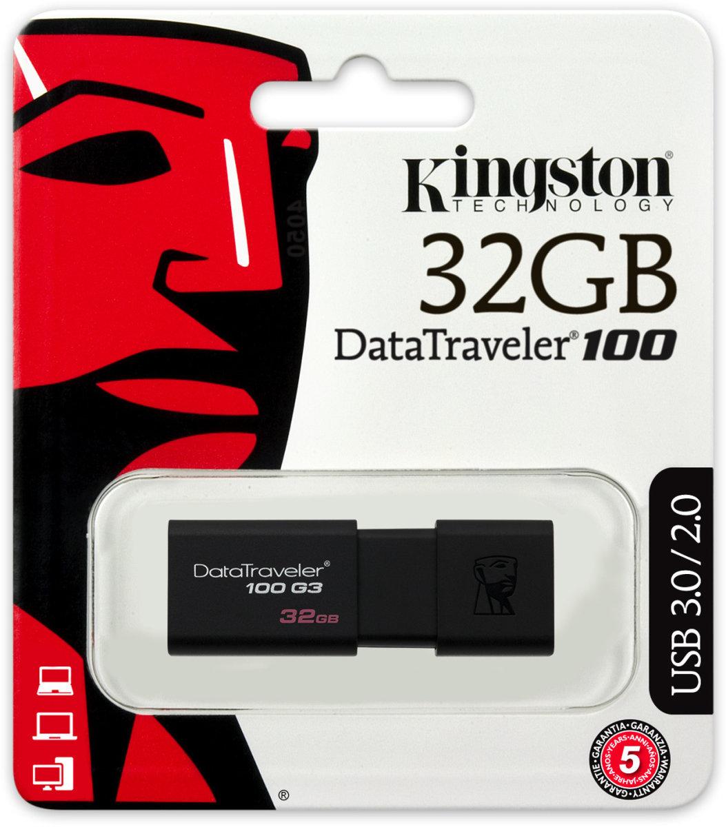 Kingston DataTraveler 100 Gen. 3 USB-nøgle, 32GB