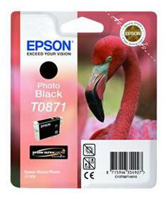 Epson nr.T0871/C13T08714010 blækpatron, sort, 5600