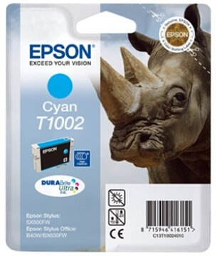 Epson nr.T1002/C13T10024010 blækpatron, blå, 800s