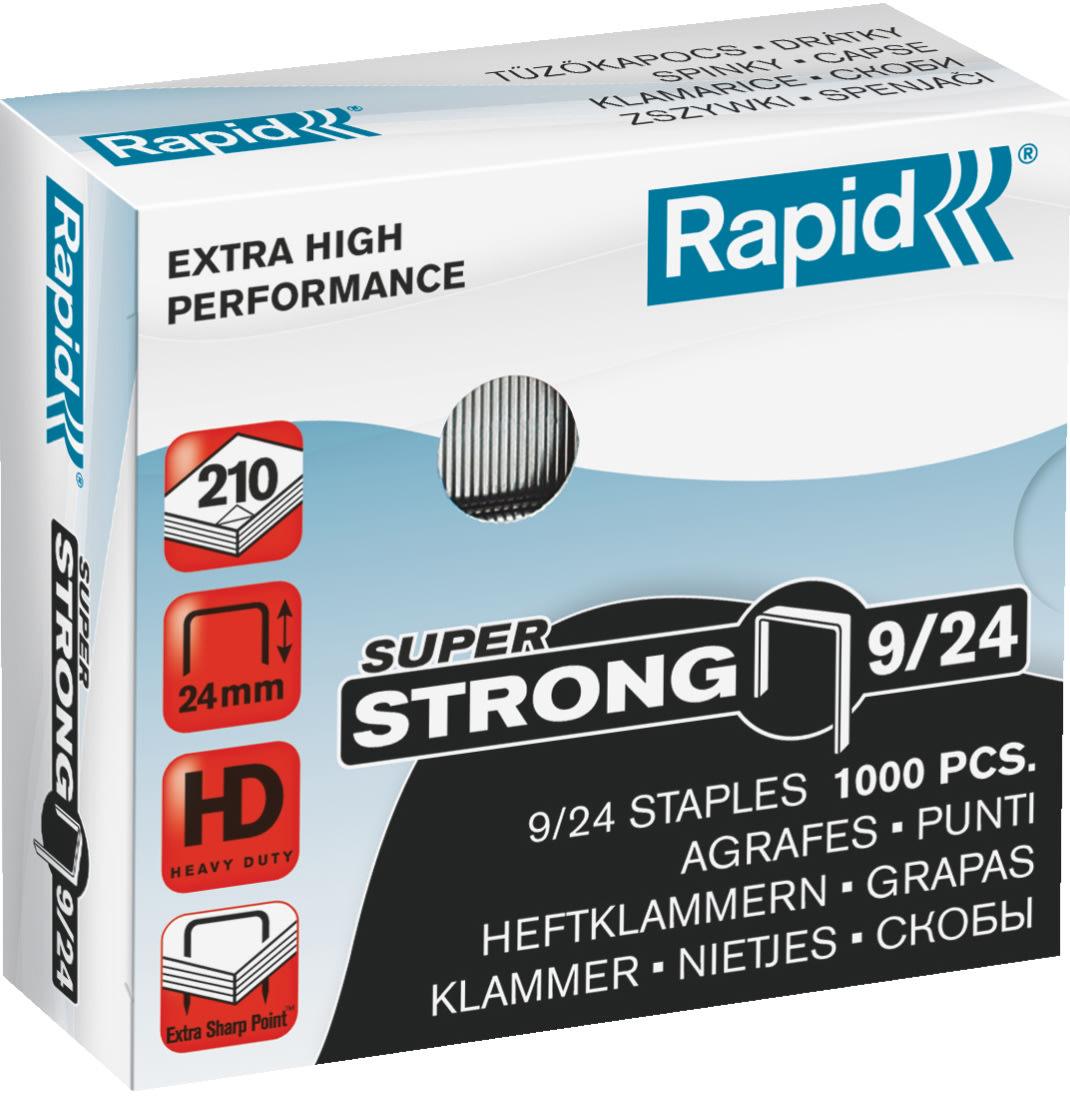 Rapid Super Strong 9/24 Hæfteklammer, 1000 stk.