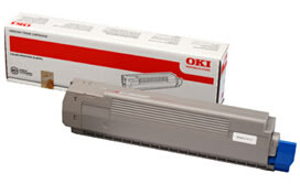 OKI 44643001 lasertoner, gul, 7300s