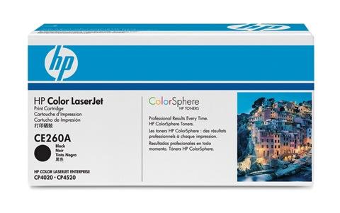 HP CE260A lasertoner, sort, 8500s
