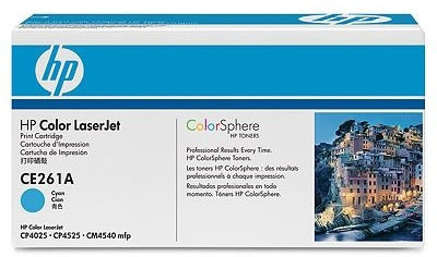 HP CE261A lasertoner, blå, 11000s