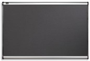 Opslagstavle Prestige 180x120 cm, sort