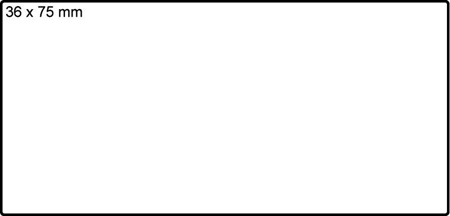 Avery 24034 etiketter på rulle, 36 x 75mm, 1000stk