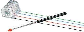 Inddelingstape til whiteboards 1mm x16m, sort