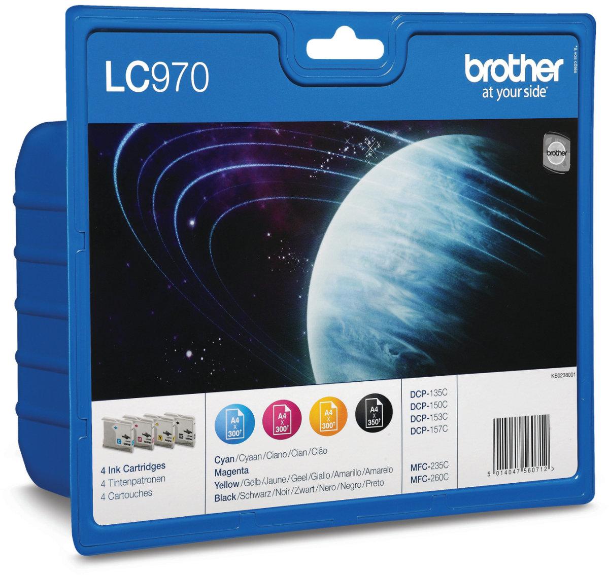 Brother LC970VALBPDR blækpatroner, sampak
