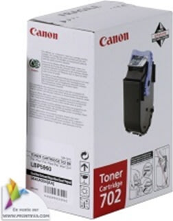 Canon 702BK lasertoner, sort, 10000s