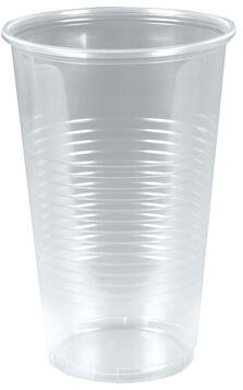 Plastglas 60cl, blød splintfri, med tappestreg