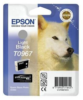 Epson nr.T0967/C13T09674010 blækpatron, lys sort,