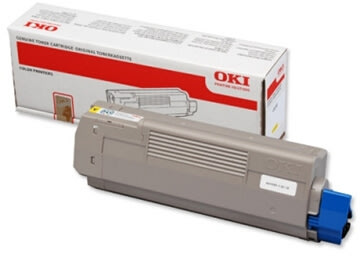 OKI 44315305 lasertoner, gul, 6000s
