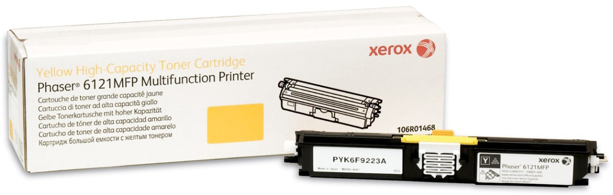 Xerox 106R01468 lasertoner, gul, 2600s