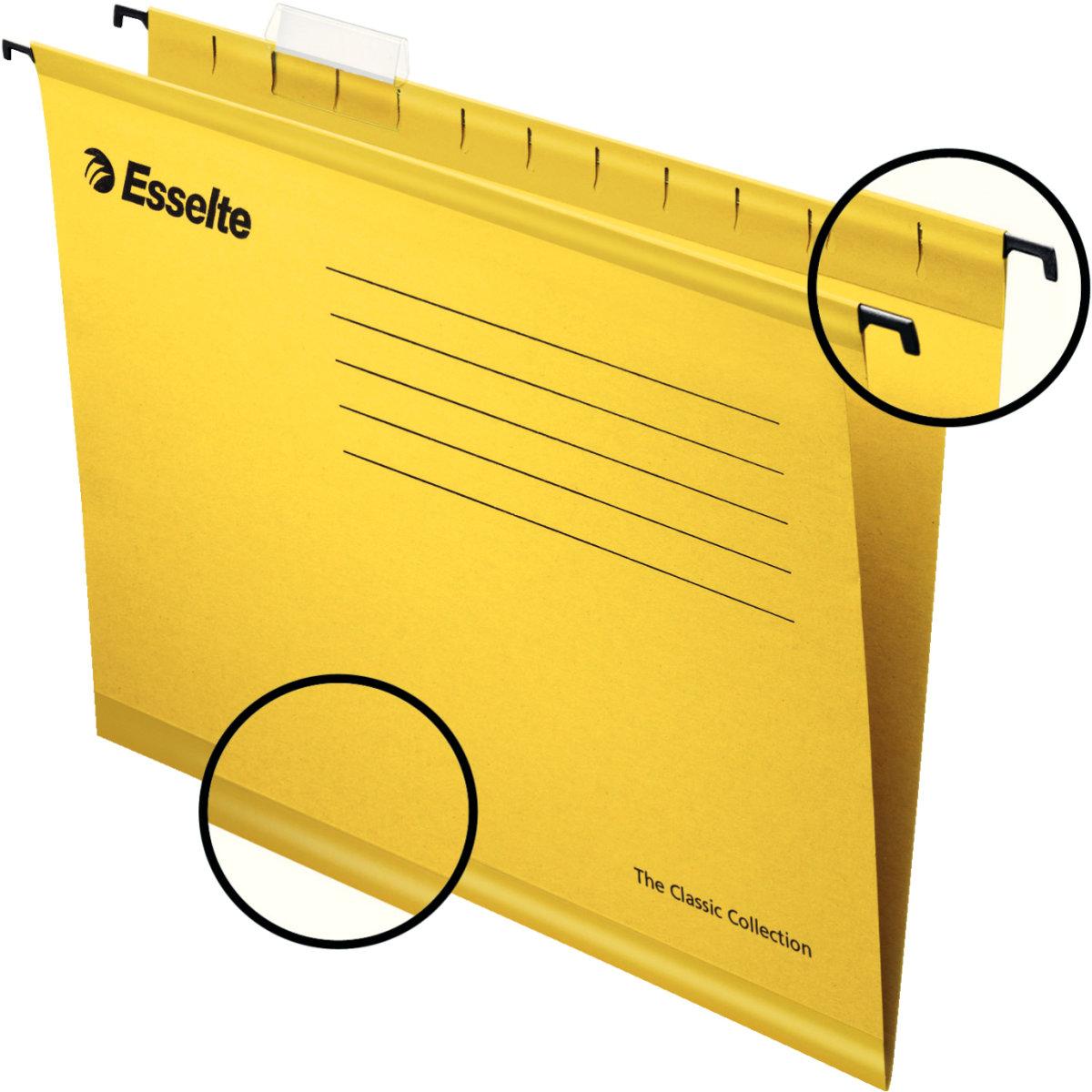 Esselte Classic hængemappe A4, gul