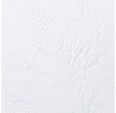 GBC Leather-Grain indbindingsomslag, A5, hvid