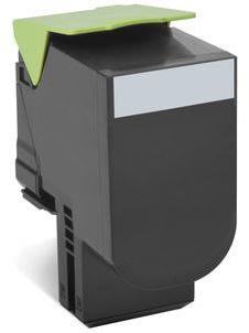 Lexmark 80C20K0 lasertoner, sort 1000 s.