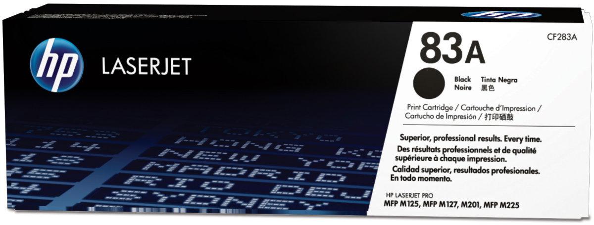 HP 83A/CF283A lasertoner, sort, 1500 s.