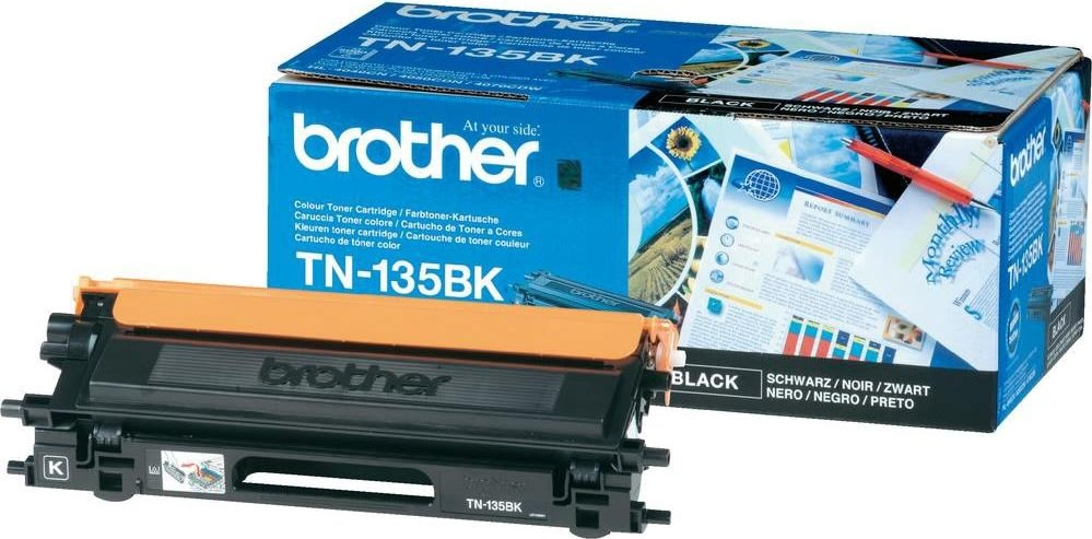 Brother TN130BK lasertoner, sort, 2500s